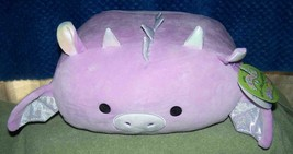 """Squishmallows STACKABLE DINA the Light Purple Girl Dinosaur 12""""L New - $25.88"""