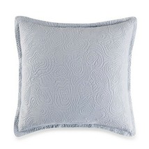 "Barbara Barry Arroyo European Euro Pillow Sham in Blue Pearl 26x26"" New - $49.38"