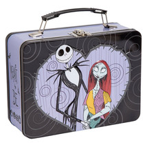 The Nightmare Before Christmas Jack and Sally Hearts Carry All Tin Tote ... - $13.54
