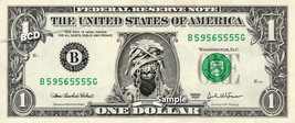 Iron Maidens EDDIE on REAL Dollar Bill Cash Money Collectible Memorabili... - $8.88
