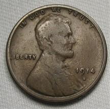 1914-S Lincoln Wheat Cent VG Coin AE456 - $22.19