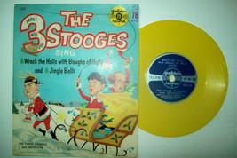 1960 Three Stooges 78 rpm Record: Wreck the Halls & Jingle Bells - $14.70