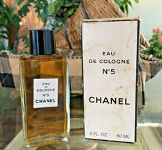 Vintage mid-century!! CHANEL No 5 Perfume 2 oz - OLD FORMULA FRANCE New NIP - $94.05