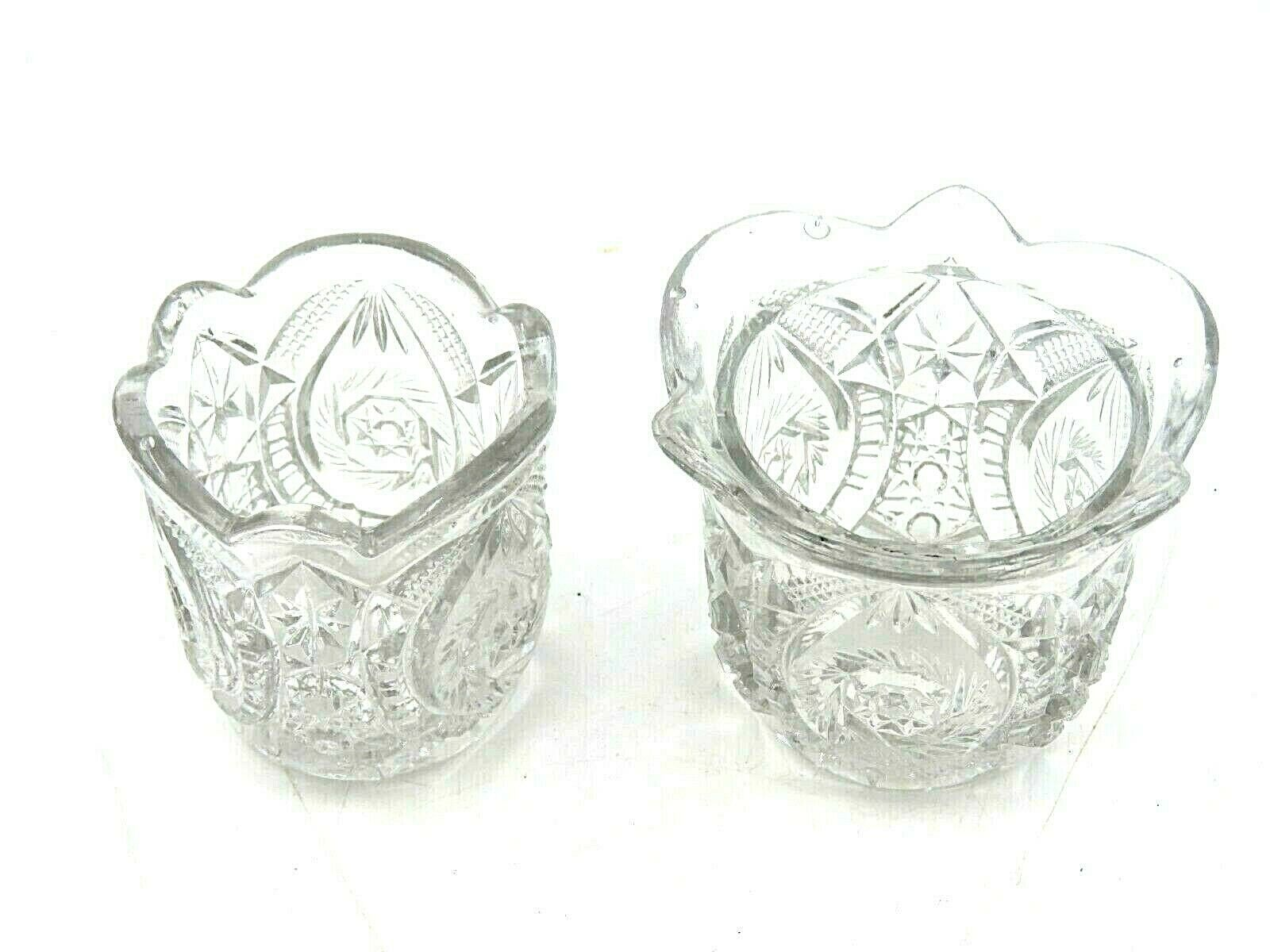 Vintage 1930s 1940s Imperial Glass Small Condiment Serving Jars - $19.75