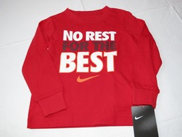 Boys Youth Nike The Nike Tee 4 XS Athletic Cut long sleeve shirt 8MC441 ... - $17.51