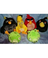 Angry Birds Lot Stuffed Animals Green Pigs Plush Toys  FLAW! SMELL!!!! - $29.65