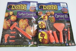 2 Pumpkin Masters Surface Carving Kits Pattern Books Tools Sealed New - $272,82 MXN