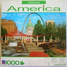 Sure-Lox Gateway Arch Midwest America Puzzle St Louis Missouri 1000 pc New - $7.99