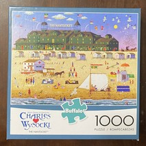 Buffalo Charles Wysocki - The Nantucket - 1000 Pc Puzzle Beach Art w/ Po... - $12.82