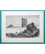 IRAQ Babylon Ruins Birs Nimroud Mesopotamia - 1877 Wood Engraving Illust... - $8.09