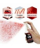 Fake Blood Spray Realistic Scary Splatter Makeup Holiday Horror Hallowee... - $6.39