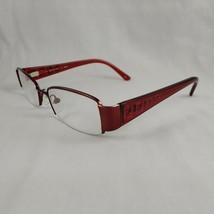 Fendi Eyeglass Frames 894 617 Half Rim Plastic Metal Red Burgundy Sparkle Italy - $76.46