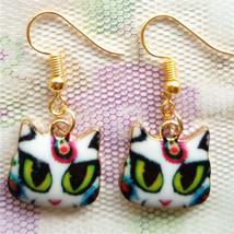 Artistic Cat Face Earrings ** (12690) >> Combined Shipping - $3.75