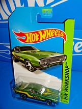 Hot Wheels 2014 HW Performance #244 '71 Plymouth Road Runner Green Accel - $2.50