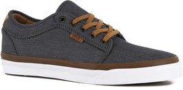 VANS Chukka Low (Denim) Pewter Gray White Casual Sneakers Mens Size 7.5 - $44.95