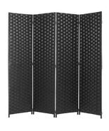 Divider 4 Panel Weave Design Fiber Black Color - $125.00