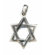 SNSArts & Judaica Beautiful Sterling Silver Pendant- Star of David, 3cm - $52.49