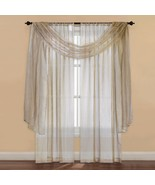 "New Westgate Strive Sheer Window Scarf Valance Gold 50""X 216"" - $43.55"