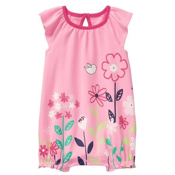 NWT Gymboree Spring Vacation Floral Garden Tiny Tropics Baby Girls Romper  - $7.14