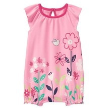 NWT Gymboree Spring Vacation Floral Garden Baby Girls Pink Romper Sunsuit - $9.34