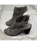 Very Volatile LA Womens Size 7 Gray Sutton Snake Skin Peep-Toe Bootie - $21.66