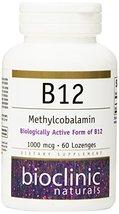 Bioclinic Naturals - B12 Methylcobalamin 1000 mcg 60 loz - $13.95