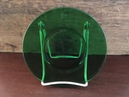 Anchor Hocking Glass Corp Forest Green Bread & Butter Plate Lot 4 - $9.99
