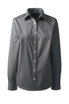 Lands' End School Uniform Long Slv No Iron Broadcloth Shirt Soapstone 8 ... - $22.75