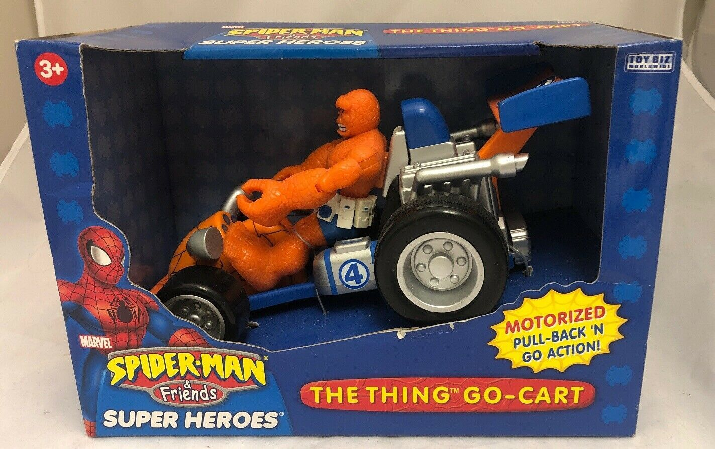 Marvel Spider-Man & Friends The Thing You Go- Cart Motorized Pull Back Go Action
