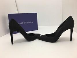 Stuart Weitzman Curvia Black Bead Napa Women's High Heels Pumps Size 7.5 M - $246.51