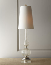 "NEW Murano Venetian 33"" Glass Table Lamp French Italian Gold Silver Horchow - $167.31"
