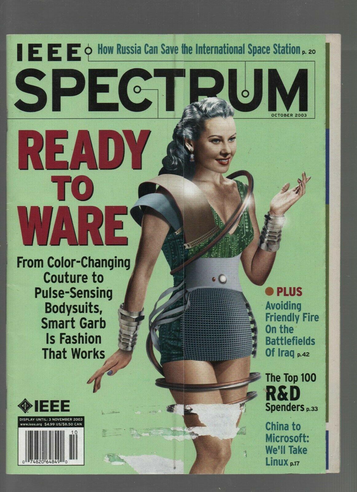 IEEE Spectrum Magazine - November 2003 - Computer Bodysuits, Iraq. Combine Ship.