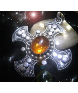 HAUNTED TEMPLAR CROSS NECKLACE UNDEFEATABLE & PROTECTED OOAK EXTREME Magick - $8,877.77
