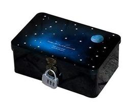 Creative Night Style Large Password Tin Box With Lock Storage Gift Box F... - $18.20
