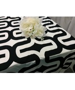 LARGE GEOMETRIC TABLECLOTH  Choose Color and size,  Black, Purple, 54 60... - $55.00