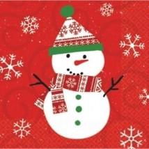Very Merry Snowman Christmas 30 Beverage Napkins - £2.64 GBP