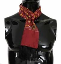 Dolce & Gabbana Mens Maroon Musical Brass Jazz Instruments Print 100% Si... - $133.65