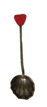 Marson & Jones Red Heart Demitasse Spoon Shell Silverplate 16325 M J And - $22.76