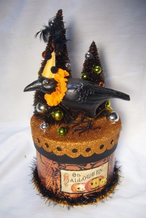 Bethany Lowe Party Crow on Box Container