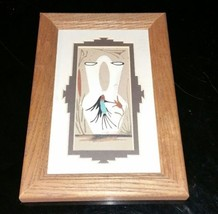 Navajo Wedding Vase Native American Authentic Handmade Sandpainting Sign... - $31.18