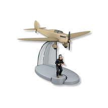 Tintin & the beige heinkel he-70 counterfeiters plane from The Black Island New