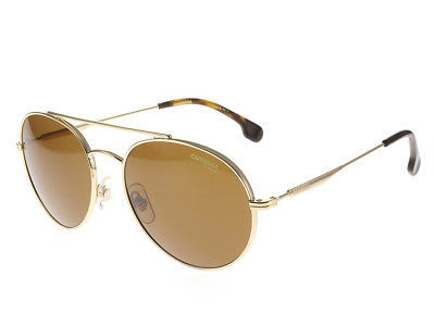 Authentic Carrera Sunglasses 131/S 06J70 Gold Havana Frames Brown Lens 56MM