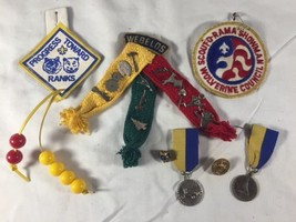 Vintage Boy Scouts Cub Scout Webelos Patches Pins Medals Ribbons - $48.32