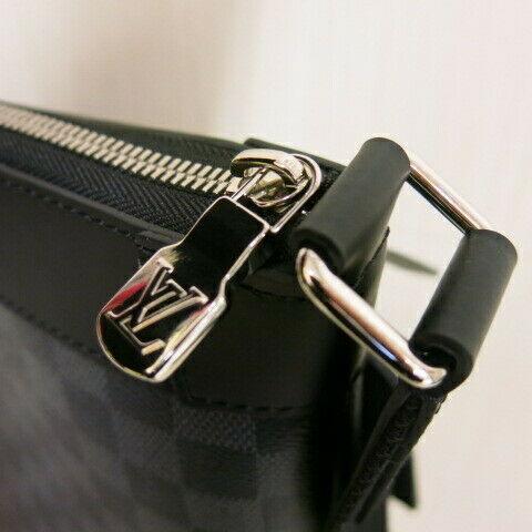 Auth Louis Vuitton Damier Gras fit Mick PM shoulder bag Men's N40003 K