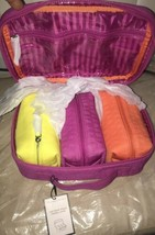 Victoria's Secret 4 Pcs Jet Setter Fuchsia Cosmetic Travel Beauty Makeup Bags - $47.99