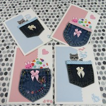Set of 4 Boy or Girl Gift card or money holder cards, 5X7 - $20.00