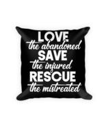 Animal Rescue pillows - Square Pillow Case w/ stuffing - $23.00