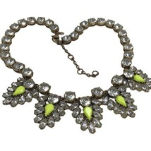 J crew statement Cluster Necklace Crystal Yellow clear gold - $15.83