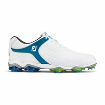 NEW! FootJoy Men's TOUR-S Golf Shoes - 55301 White/Blue - 11.5 Medium - $227.58