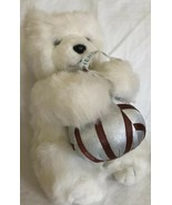 Plush Hershey's Kiss Hugs Teddy Bear White Brown Silver Candy Toy K B Br... - $16.82